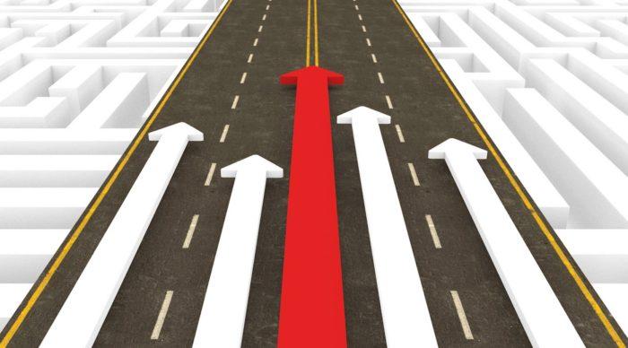 Arrows on a path, executive training in Nashville, TN, executive coaching - Jennifer Patterson – Agility Leadership.